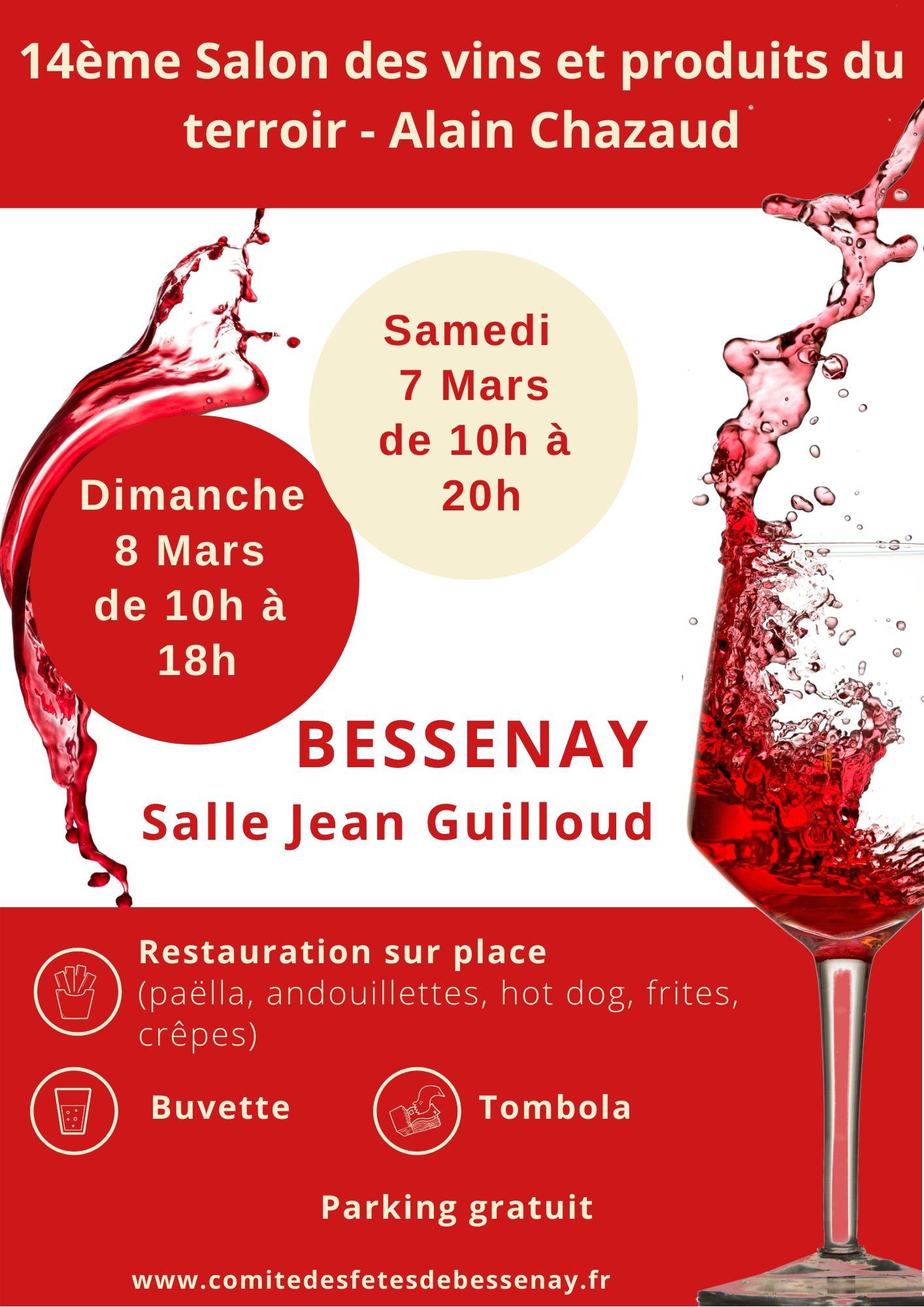 Calendrier Salon Des Vins 2021 SALON DES VINS   6 ET 7 MARS 2021   Comité des Fêtes de Bessenay